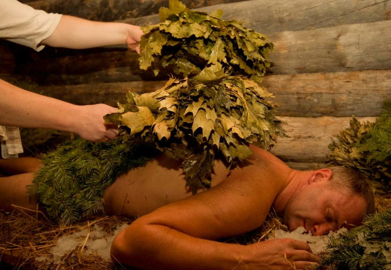 русский массаж, веники в бане, массаж в бане в спб