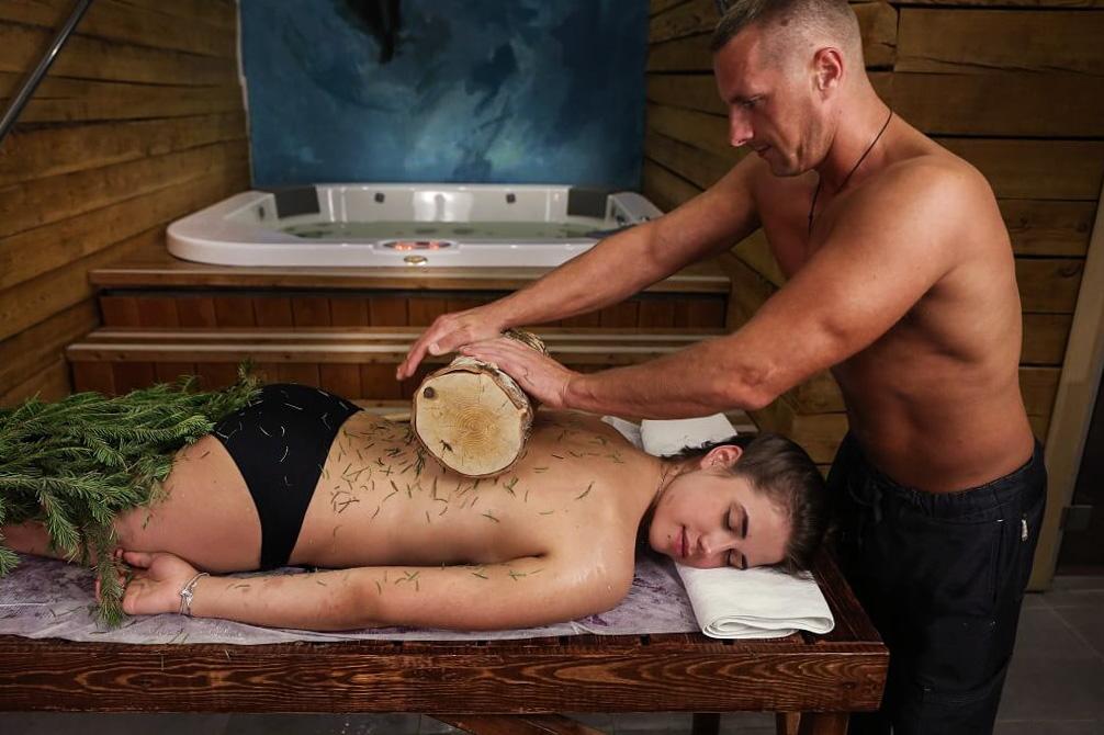 массаж в бане, русский массаж  в спб